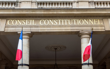 French Constitutional Council (Conseil Constitutionnel) located in the Palais Royal - Paris, France