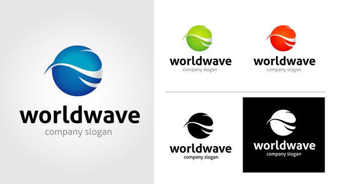 World Wave Logo Template