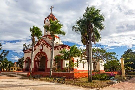 Nuestra Senora de la Caridad, Spanish Colonial Style Catholic Church Building Exterior in City of Camaguey Cuba