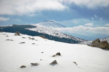 Wall Mural - Etna Volcano From Winter Nebrodi Park, Sicily