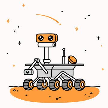 Cartoon Mars rover