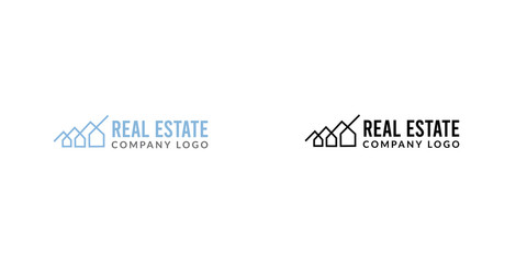 Black real estate logo with a house maze symbol
