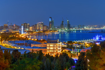 Skyline of Baku, Azerbaijan