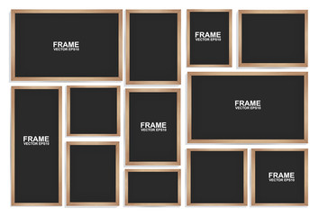Blackboards on  white background. Vector illustration.