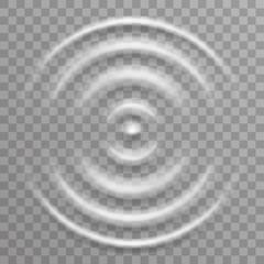 Water surface splash ripple waves decoration transparent background vector illustration