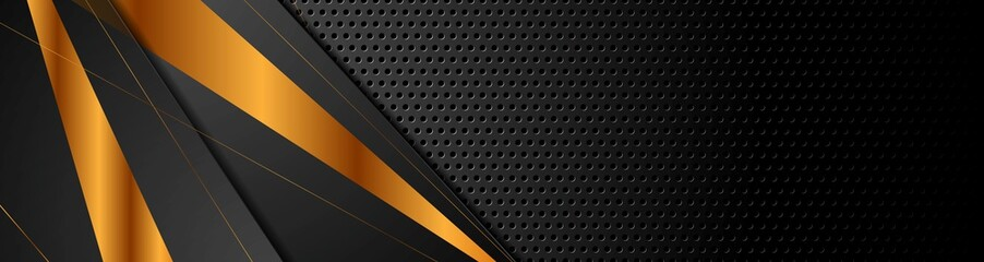 Black bronze stripes on dark perforated background