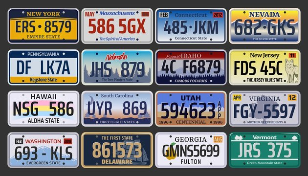 Car registration numbers and license plates in USA