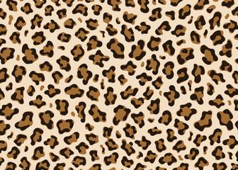 Simple Leopard pattern design. Animal print vector illustration background. Wildlife fur skin design illustration for web, home decor, fashion, surface, graphic design