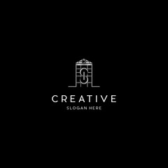 Letter S In Home Church Creative Business Logo