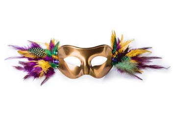 Festive mask on white background