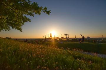 Sonnenuntergang auf dem Olympiaberg Fotoväggar
