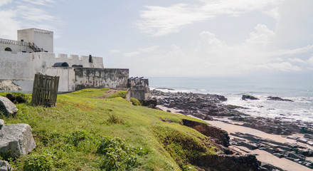 Exterior view to Elmina castle and fortress, Ghana Fototapete