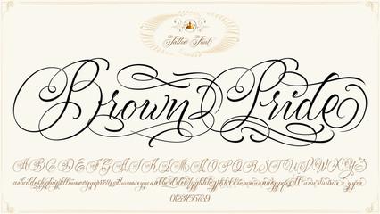 Brown Pride Tattoo Script