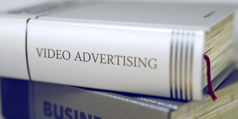 Video Advertising - Business Book Title. 3D Rendering.