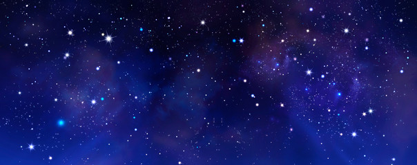 background of the night sky with stars Fototapete