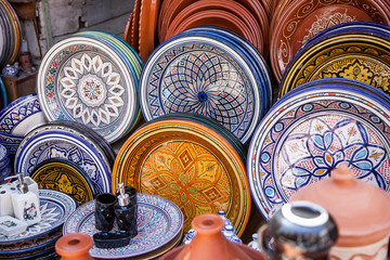 pottery at the Moroccan Bazaar