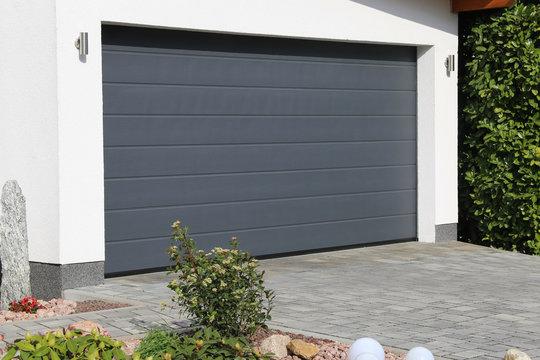 Modern new garage door (sectional door)