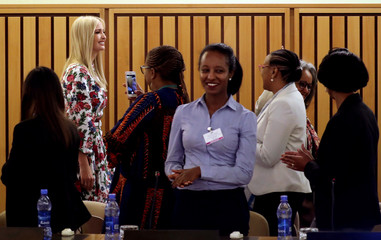 White House Advisor Ivanka Trump arrives to attend the African Women's Economic Empowerment Dialogue meeting at the United Nations Economic Commission for Africa headquarters, in Addis Ababa