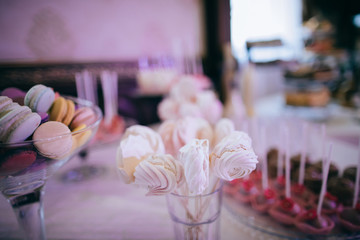 Wedding Table with sweets, candies, dessert