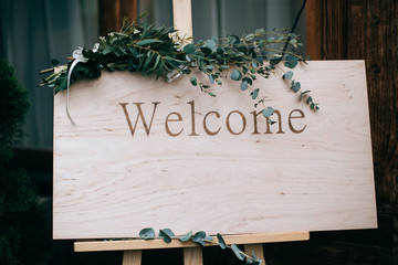 wedding board welcome