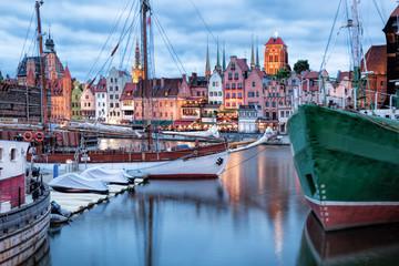 Obraz Port w Gdańsku, Polska - fototapety do salonu
