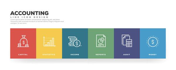 Accounting Line Icon Design