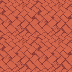 Abstract terrazzo floor weave grunge stone texture. Seamless vector pattern on burnt siena background with urban vibe. Great as background, texure, packaging, stationery, gift wrap