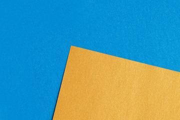 Mix of blue, yellow colors of design paper.