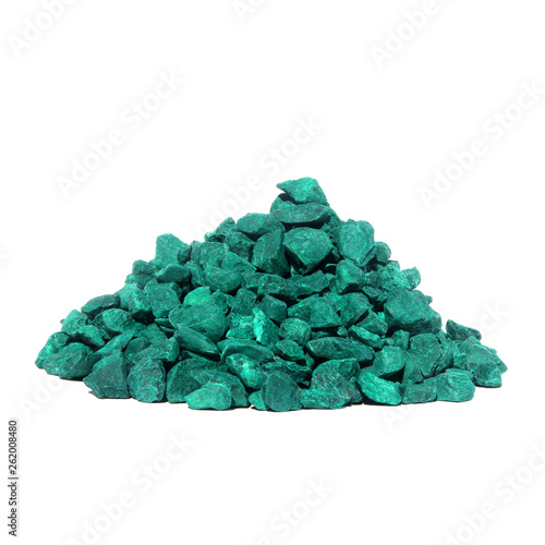 A Pile Of Colored Stones Isolated On White Background