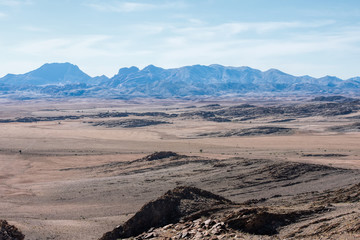 mountains and Namib desert