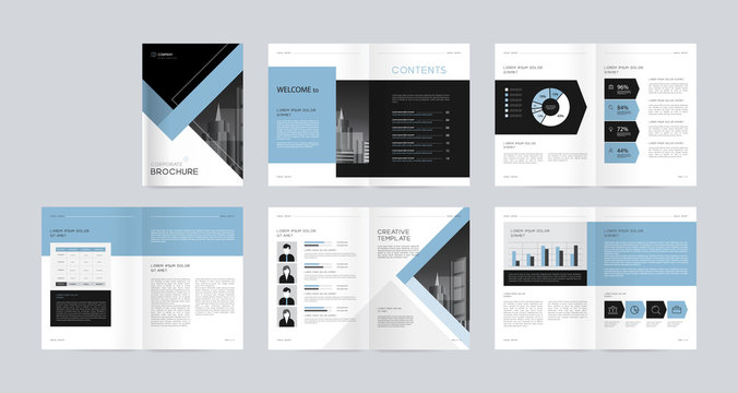 template layout design with cover page for company profile ,annual report , brochures, flyers,  magazine, book . and vector a4 size for editable.