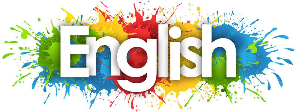 English word in splash's background