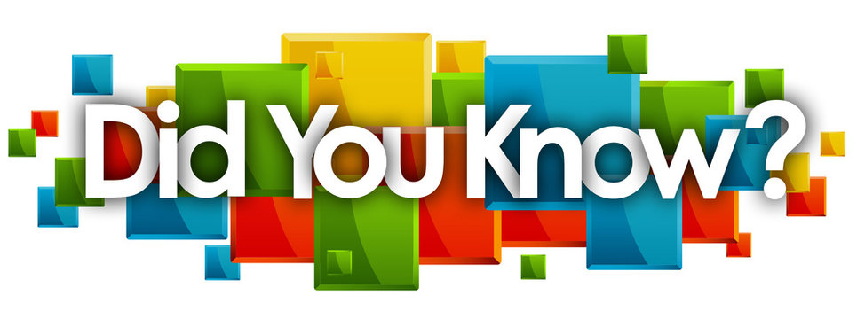 did you know word in rectangles background