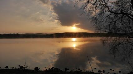Morgenstimmung am Loch Ken, Galloway Schottland