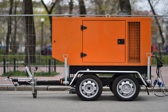 electric generator on trailer car