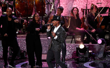 "Ne-Yo performs during the ""Motown 60: A Grammy Celebration"" concert at Microsoft theatre in Los Angeles"