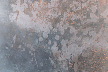 Grunge gray and bronze metal texture and background with copy space