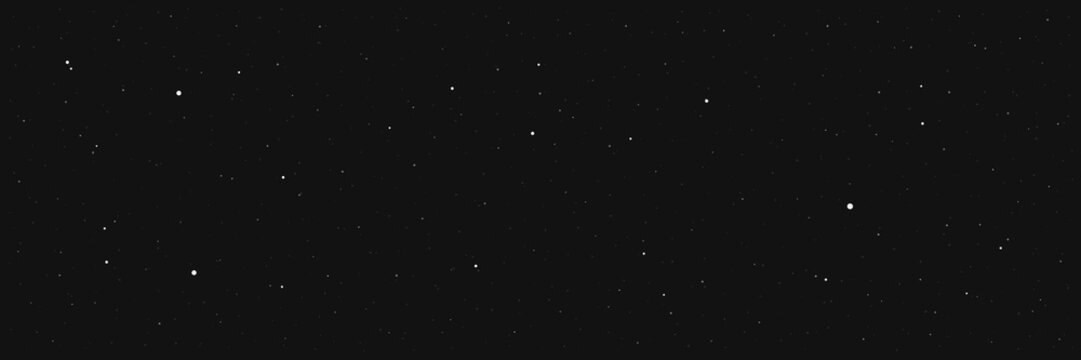 Dark night star background .