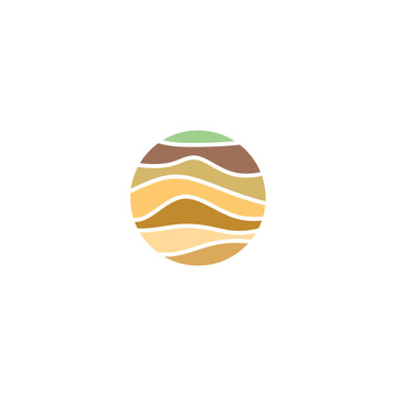 soil layers geology logo icon vector element