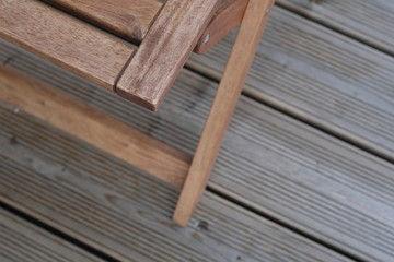 Wooden chair and deck for leisure