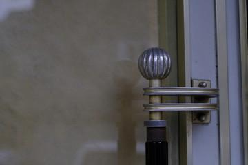 Knob of a door of a shop
