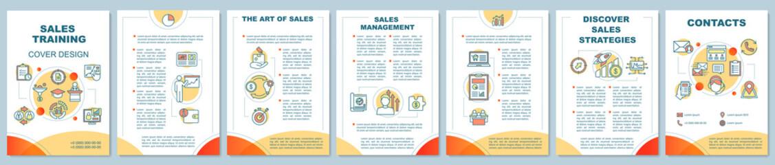 Sales skills training brochure template