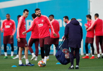Champions League - FC Barcelona Training
