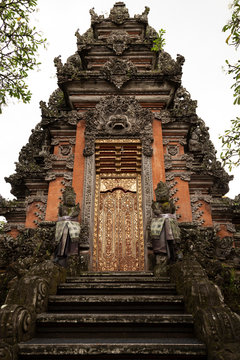 Decorative Entrance to a Temple in Bali, Indonesia