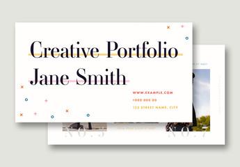 Web Portfolio with Multicolored Accents