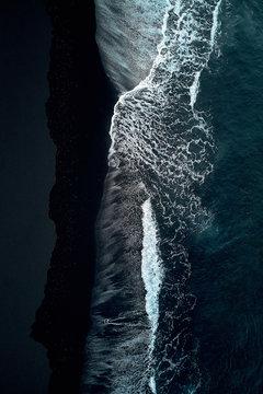 Volcanic sand of Lanzarote coast, Spain