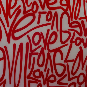 Love street art graffiti spray paint