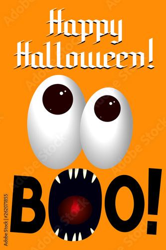 Happy Halloween baner/ poster - boo!