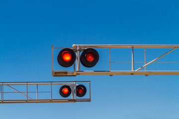 Railroad Red Signal Lights Wall mural