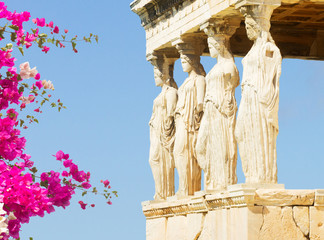 Wall Mural - Erechtheion temple in Acropolis of Athens